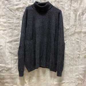 Mens XXXL Saks Fifth Ave Cashmere Turtleneck Gray